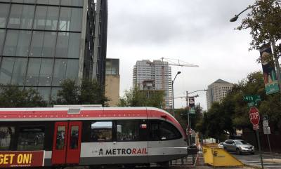 The MetroRail's ridership increased in April 2019 compared to April 2018.