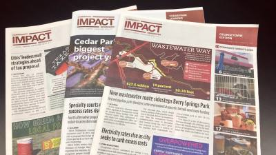 Community Impact Newspaper has nine print editions in Central Texasu2014delivering hyperlocal news to homes and businesses from Georgetown to New Braunfels.