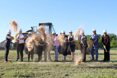 Construction began April 25 on Teresau2019s House Craig Ranch.