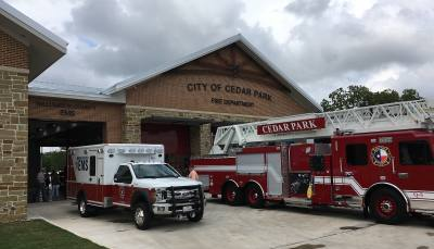 Fire Station No. 5 in Cedar Park is a 13,250-square-foot facility that houses both the Cedar Park Fire Department and Williamson County Emergency Medical Services. The station is located at 1501 Cottonwood Creek Trail. Construction began in 2017, and a grand opening was held May 3.