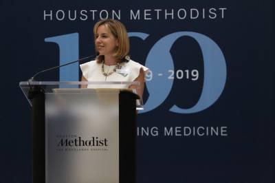 Houston Methodist The Woodlands CEO Debbie Sukin announces a $240 million expansion for the hospital.