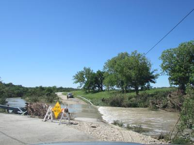Areas prone to flooding in Dripping Springs saw road closures due to storms May 3.