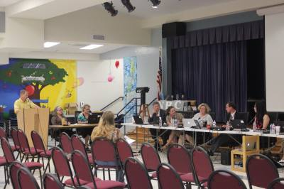 SHAC chairman Rob Satterfield presented the committee's recommendations to the board of trustees on May 20.