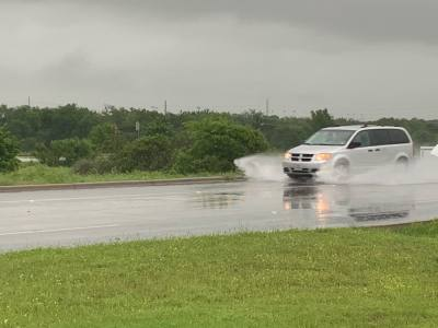 Local flooding was caused by rain May 8 in parts of Central Texas.