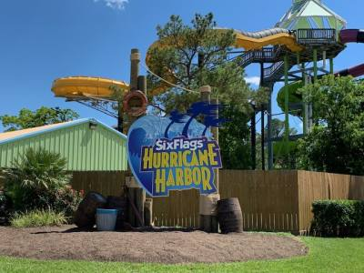 Six Flags Hurricane Harbor SplashTown will debut its new facade on opening day, May 4.
