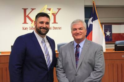 From left: Lance Redmon and Duke Keller are the new faces elected to Katy ISD board of trustees.