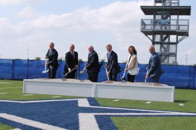 Frisco, Keurig Dr Pepper and Dallas Cowboys officials break ground on Keurig Dr Pepper's new Texas headquarters.