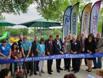 The Ann Eisemann Inclusive Playground opened in April.