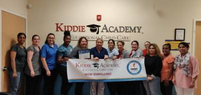 Kiddie Academy of Round Rock recently received national accreditation.