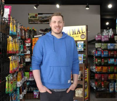 Jason LeFebvre is the co-owner of Castle Hills Pet Supply.nPhotos by Sherelle Black/Community Impact Newspaper