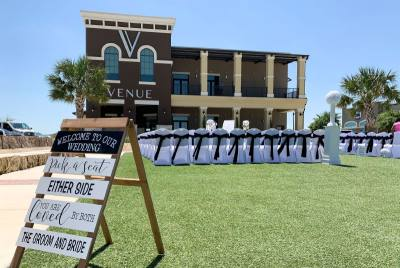 The Village Venue offers options for indoor and outdoor events. The business is in Freiheit Village, which has several restaurants, bars, a hotel and other businesses.