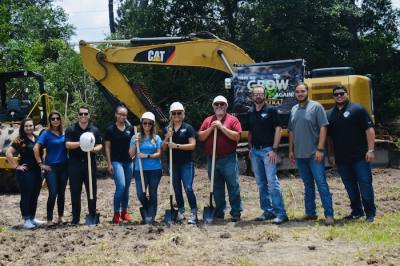 Officials with Petra Oil Company held a ground breaking for a $1 million expansion at the company's Cy-Fair headquarters.