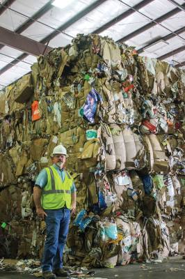 Recycling centers in Round Rock, like many across the United States, are dealing with a surplus of recyclables following China's adoption of a strict importation policy.