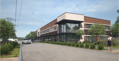 A rendering of the office building proposed by A Beautiful Bellaire, LLC, at Bellaire's city council meeting on May 20, 2019.