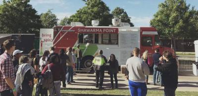 Shawarma Point is one of the participating food trucks in a food truck pilot program at The Domain.