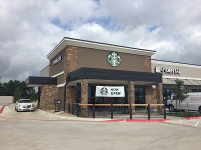 Starbucks on A.W. Grimes near Gattis School Road opened May 13.