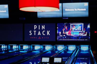Pinstack, set to open in North Austin in late 2019, will feature 26 bowling lanes as well as bumper cars, video games and more.