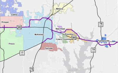 During a May 6 meeting Texas Department of Transportation officials presented this recommended alignment to the public.