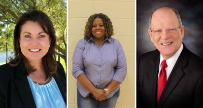 From left: Wendy Duncan, Hope Martin and Andy Meyers are running for Fort Bend County Precinct 3 Commissioner.