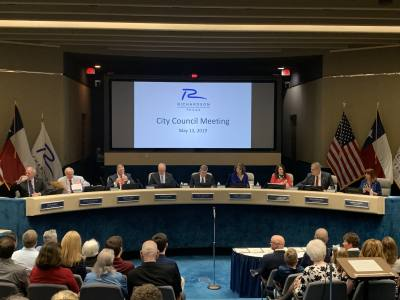 Former Richardson City Council members gathered for their final meeting together May 13.