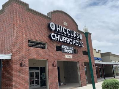 Hiccups & Churroholic will open soon in Freiheit Village, New Braunfels.