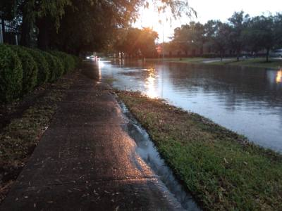 The Sugar Land and Stafford areas received 7 inches of rainfall Tuesday, May 7, resulting in street flooding.