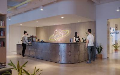 A rendering of a WeWork office space. Courtesy WeWork