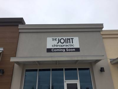 National chain The Joint Chiropractic indicated plans to open a Hutto office on its website and via signage posted on the building.