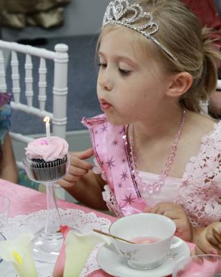 Tiaras and Tea Parties hosted events for children.