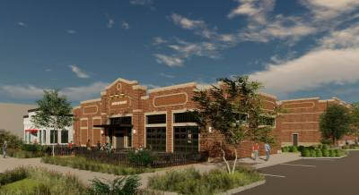 The mixed-use development will include office and restaurant space.