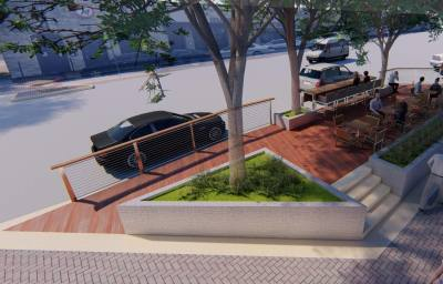Construction on six parklets along East Main Street in downtown Round Rock has been delayed.