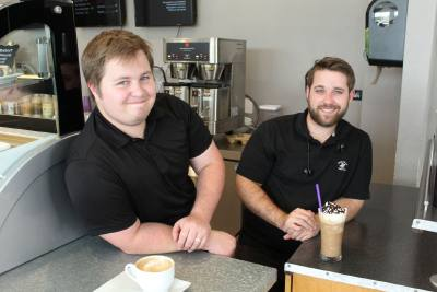 After working in chain and independent coffee shops, Heath Miller (left) decided to open his own concept. He teamed up with his brother Luke (right) to open Axiom Coffee in 2018.