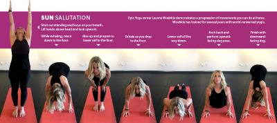 Epic Yoga owner Leanne Woehkle demonstrates a progression of movements you can do at home.