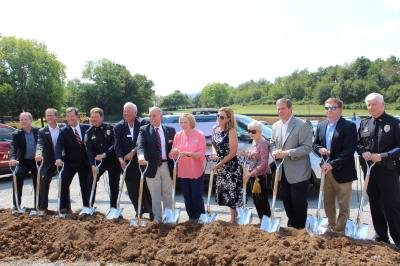 The city of Brentwood broke ground on its new police headquarters Sept. 11.