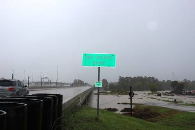 The West Fork of the San Jacinto River at Hwy. 59 in Kingwood came out of its banks on Sept. 19.