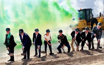 A groundbreaking was held Sept. 9 on the 20,500-seat stadium. It opens in spring 2021 in North Austin at 10414 McKalla Place.