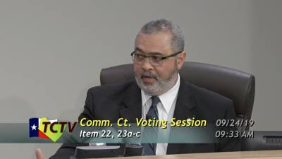 Commissioner Jeff Travillion speaks about the Travis County fiscal year 2019-20 budget at a Sept. 24 meeting.