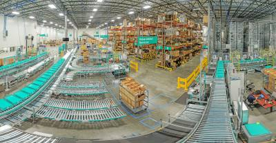 The distribution center serves as the central warehouse from which Pepperl+Fuchs distributes more than 10,000 products worldwide.